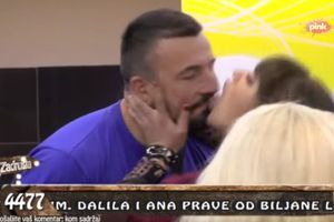 Miljana Kulić lizala Vladimira po licu, a evo kako je on reagovao! VIDEO