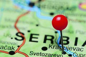 Mapa na kojoj su samo Srbija i Bosna obojene u crveno