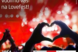 Visa i UniCredit Banka vas vode na Lovefest